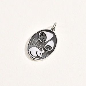 Sterling 925 Mouse Pendant/Charm
